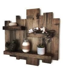 Rustic wall shelf reclaimed wood wall shelf pallet shelf