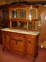 French Antique Carved Marble Top Buffet Sideboard Hutch Cabinet Inside Buffets Sideboards Servers And Hutches