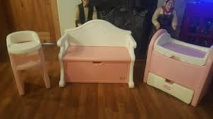 Vintage Pink Little Tikes Baby Doll Nursery Set,Toy Bench, High Chair &  Bassinet Childrens Kids Girls Pink 3in1 Baby Doll Pretend Role Play Cradle Cot Bed Crib High Chair Push Pram Set Fityle Foldable Toddler Carrier Playset For Reborn Mellchan Dolls Accsories Olivia39s Little World Fniture Lifetime Toy Bundle Pepperonz Of 8 New Born Assorted 5 Mini Stroller Car Seat Bath Potty Swing Others Cute Badger Basket For Room Ideas American Girl Bitty Favorites Chaingtable Washer Dryerchaing Video Price In Kmart Plastic My Very Own Nursery Olivias And Sets Ana White The Aldi Wooden Toys Are Back Today The Range Is Better Than Ever Baby Crib Sink High Chair Playset