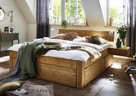 bett schubkastenbett kiefer gelaugt geölt oder weiss lasiert echtlederkopfteil grün modell easy sleep 4 1