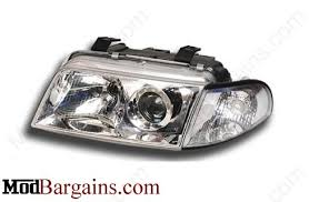 depo audi a4 b5 projector headlight bulbs xenon black