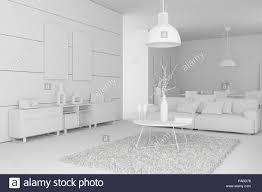 modell der modernen innenausbau wohnzimmer stockfotografie