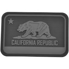 California Bear FlagTM Rubber Velcro Patch By Hazard 4R