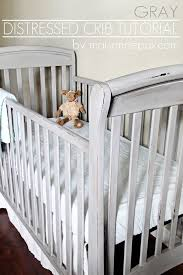Bedroom Charming Baby Cache Cribs With Curtain Panels And by Gorgeous Gray Crib Makeover Crib Makeover Pottery Barn Style