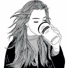 Tumblr Drawings Cool Pretty Beautiful Coffee Drawing Outlines Cute