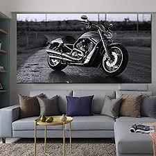 zqyjhkou kein rahmen motorrad bilder schwarz und weiß