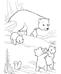Polar Bear Family Coloring Pages