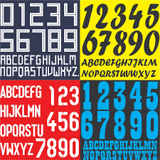 Abstract Rainbow Número Ilustración Número Tipo De Letra