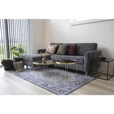 hawai teppich 160x230 cm schwarz weiss design läufer wohnzimmer esszimmer modern
