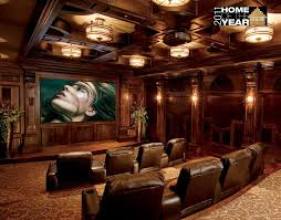 craftsman home theater with flush light wall sconce zillow