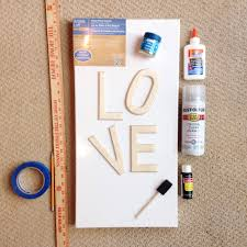 DIY Glitter Love Canvas
