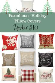 Holiday Farmhouse Pillow Covers Under 10