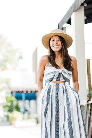 the striped cut out summer dress u2014 janna doan