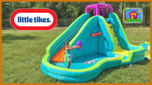 Inflatable Bath For Toddlers by Huge Inflatable Water Slide Little Tikes Giant Egg Surprise Toys
