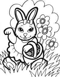 Bunny Rabbit Coloring Pages Free Printable Easter For Kids