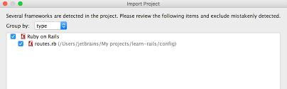 Opening Rails projects in IntelliJ IDEA Ruby Rails IDE