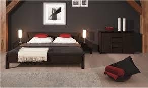 chambre wengé lit contemporain oslo mobilier de chambre à coucher bois massif