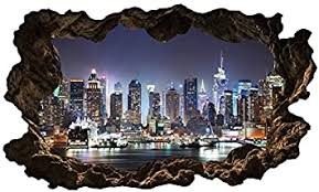 3d wandtattoo new york skyline stadt wandbild wandsticker