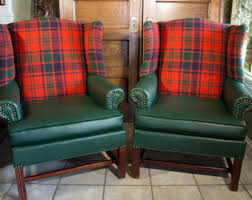 wingback chair pair etsy
