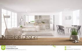 100 Interior Design Words Wooden Table Desk Or Shelf With Potted Grass Plant House Keys And