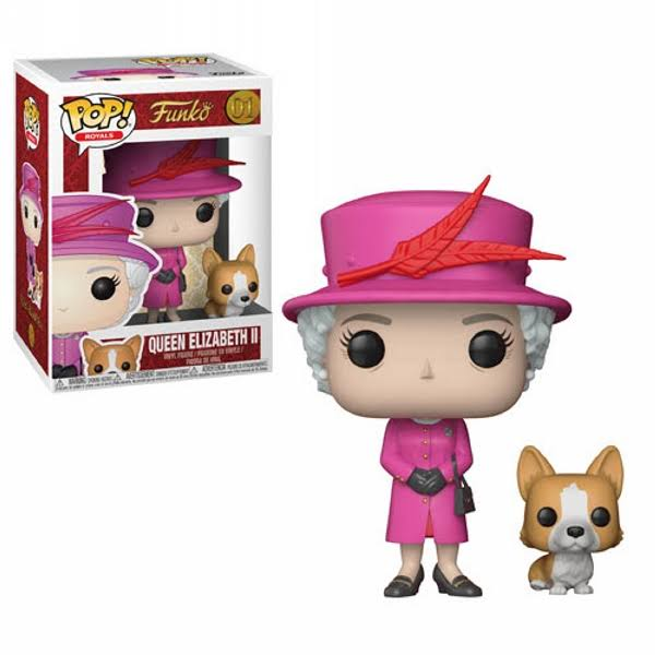 Funko Pop Royal Family Vinyl Figure - Queen Elizabeth Ii, 10cm