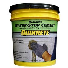 Zinsser Popcorn Ceiling Patch Msds by Quikrete 20 Lb Hydraulic Water Stop Cement 112620 The Home Depot