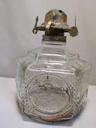 Lamplight Farms Oil Lamp by Glass Lamp Light Farms Hexagon Horse Buggy Diamond Pattern Oil