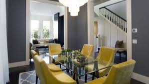 Grey Yellow Dining Room Ideas Minimalist And Alluring Chairs