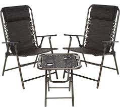 Bliss Hammocks Folding Outdoor Patio Set With 2 Chairs And ...