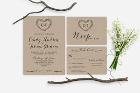 Printable Rustic Garden Wedding Invitation Minimalist Kraft Laurel Monogram InvitationThe Amelie Collection