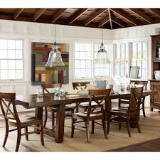 Pottery Barn Benchwright Extending Dining Table Rustic Mah