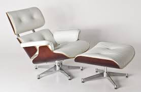 Replica Eames Lounge Chair+ottoman -White Italian Leather With Brown Timber  And PU Pipping & Buttons Replica Eames Lounge Chairottoman Black Cowhide Leather Classic Lounge Chair Ottoman In 2019 Fniture And Restoration Ndw Design Blog A Guide For Buying Your Part I Best Herman Miller Mhattan Home Reinvents The Shock Mounts Of Full Aniline Platinum Reviews Find Buy Sand Collector