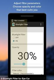Bluelight app improve sleep by placing a crimson filter over your
