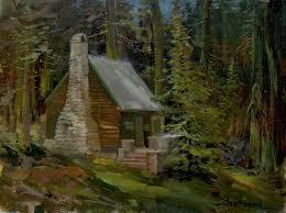 Echo Lake Painting The Artist s Cabin Stefan Baumann