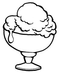 Ice Cream Sundae Bowl Clipart Black And White 10068