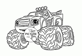 Collection Of Monster Truck Coloring Pages For Kids | Download Them ...