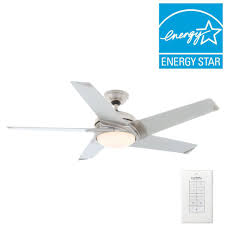 casablanca stealth 54 in indoor brushed nickel ceiling fan with