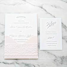 Card U Rsvp The Blush And Simple Beach Wedding Invitations Elegant Panel Pocket Invitation