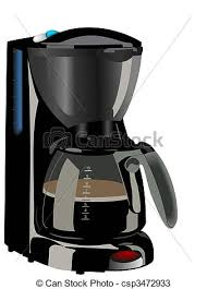 Realistic Illustration Of Coffee Maker