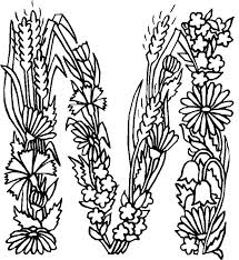 Letter Coloring Pages For M Page Alphabet Flower