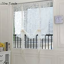 Valances Curtains For Living Room by 1 Pcs Sling Cut Flowers Door Window Curtain Drape Panel Sheer