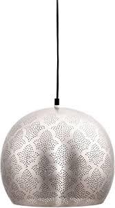 maades orientalische le pendelleuchte rayhana 30cm silber e27 lenfassung marokkanische design hängeleuchte leuchte orient len für