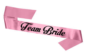 team bride hen party sash simply sashes