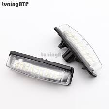 18 smd led license plate light bulb for toyota camry xv40 yaris