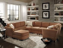 Light Brown Couch Living Room Ideas by Contemporary Living Room Area With Light Brown Sectional Living