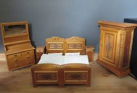 antikes jugendstil schlafzimmer um 1910 fünf möbel für
