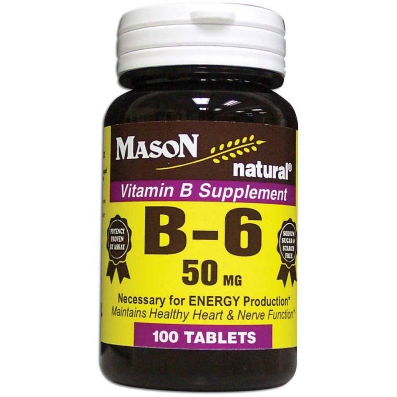 Mason Natural Vitamin B6 Dietary Supplement - 50mg, 100ct