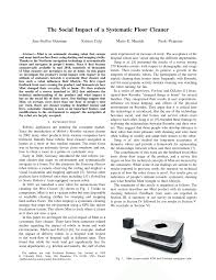 Floor Cleaning Robot Project Report by The Social Impact Of A Systematic Floor Pdf Download
