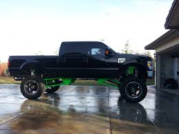 Hekka Cool Black And Bright Green Ford Truck With A Hekka Big Lift ...