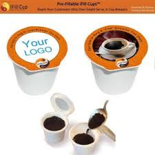Ifill K Cups 100 Recyclable Empty Coffee Capsule Keurig Maker Cup